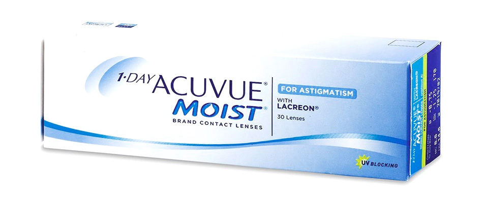 Контактные линзы 1 DAY ACUVUE MOIST for ASTIGMATISM (30 линз)  фото