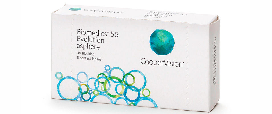 Контактные линзы Biomedics 55 Evolution (6 линз)  фото
