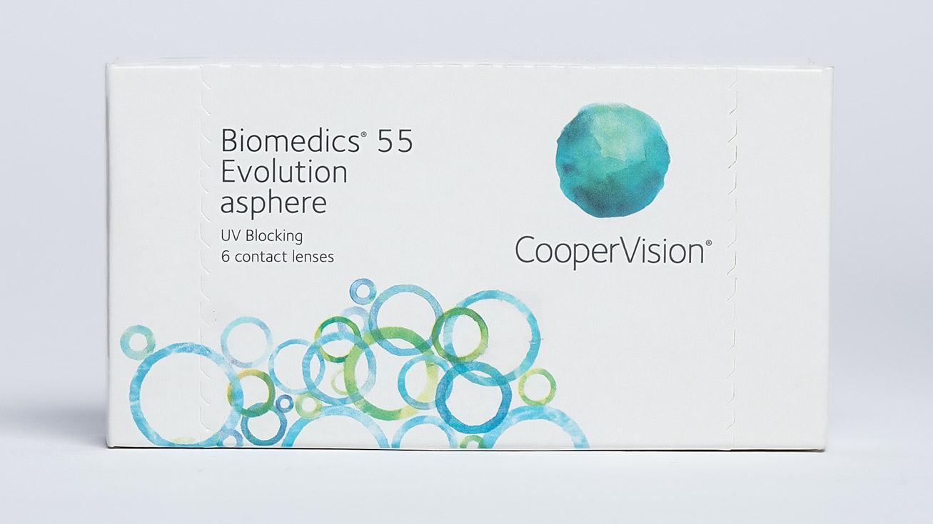 Контактные линзы Biomedics 55 Evolution (6 линз) фото