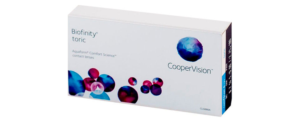 Контактные линзы Biofinity Toric (3 линзы) фото