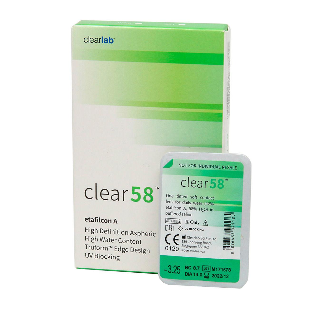 Контактные линзы Clear58 (6 линз) фото