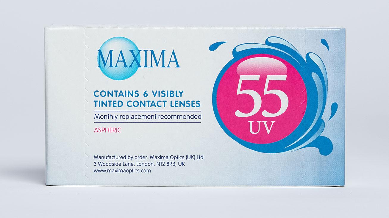 Контактные линзы Maxima 55 UV ASPHERIC (6 линз) фото