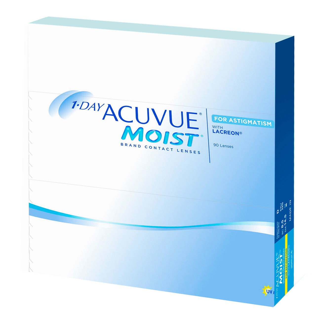 Контактные линзы 1 DAY ACUVUE MOIST for ASTIGMATISM (90 линз)  фото