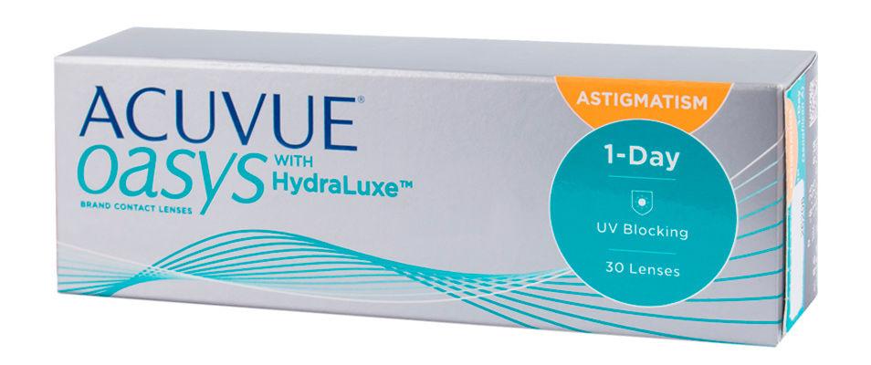 Контактные линзы ACUVUE OASYS with HydraLuxe for ASTIGMATISM (30 линз)