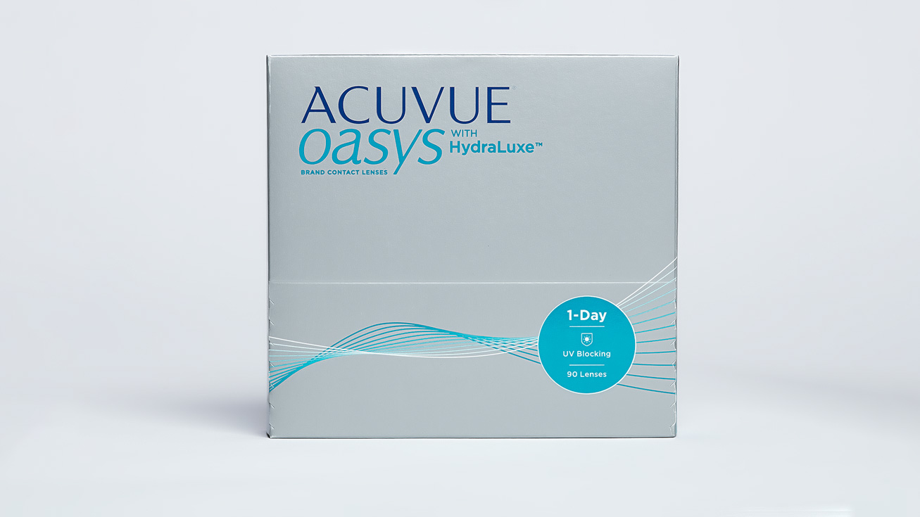 ACUVUE OASYS with HydraLuxe (90 линз)