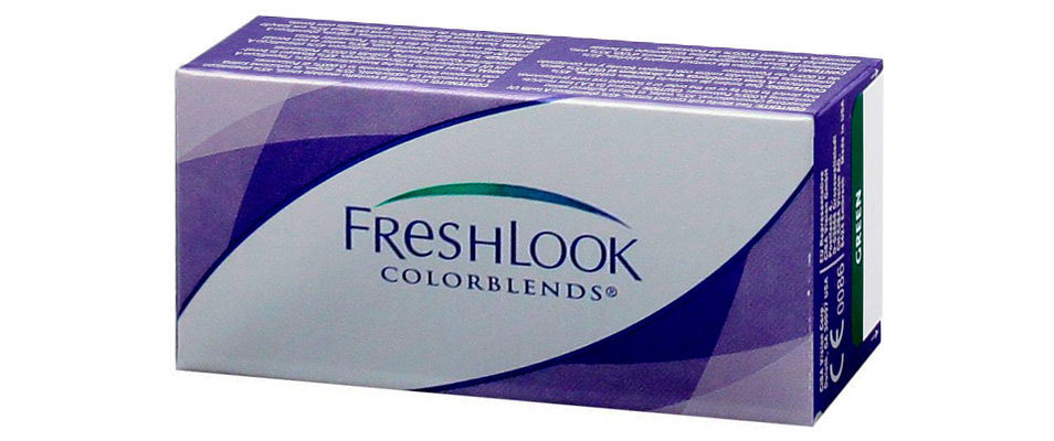 Контактные линзы FreshLook ColorBlends 0,00 (2 линзы)  фото