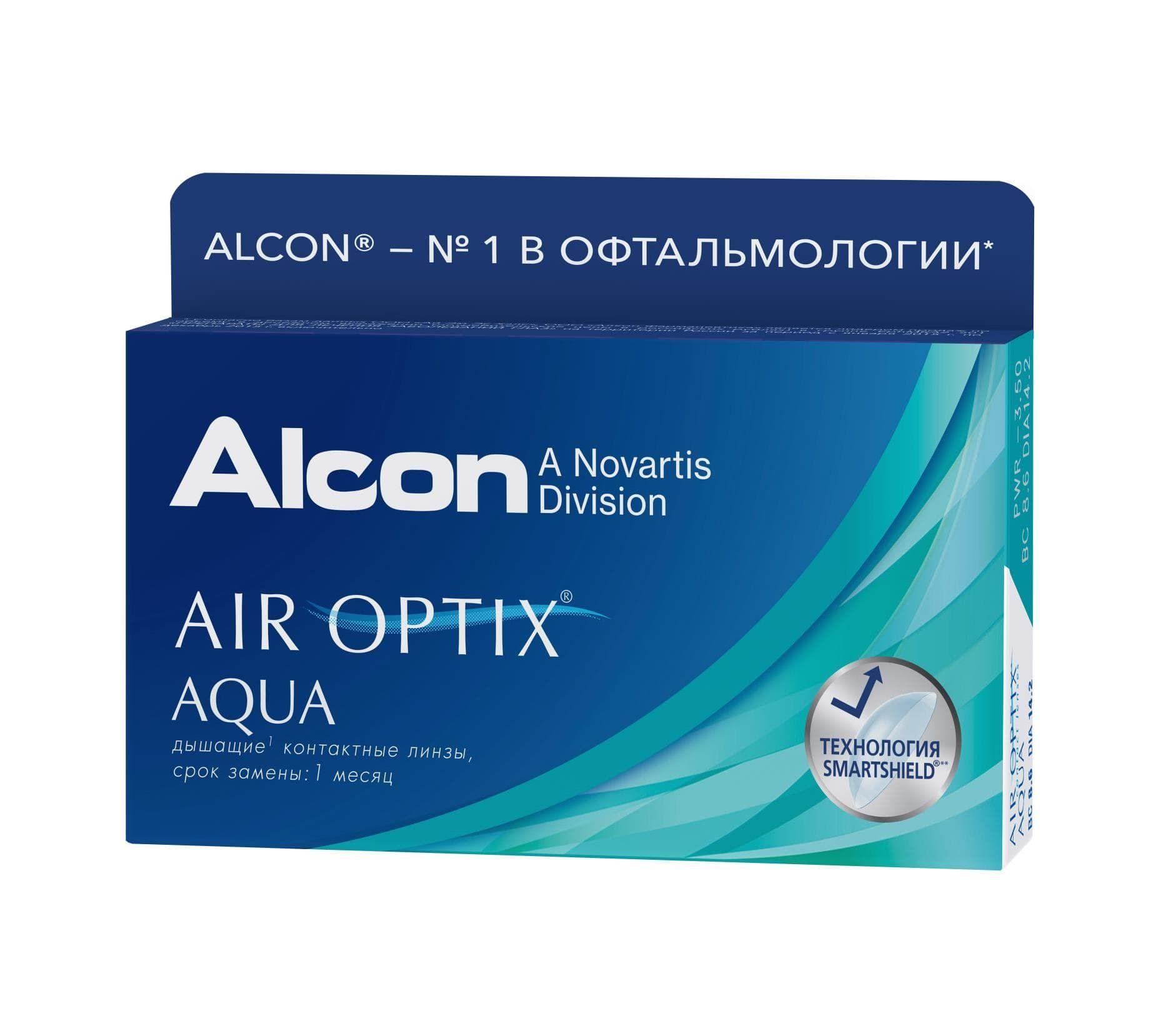 Контактные линзы optix aqua