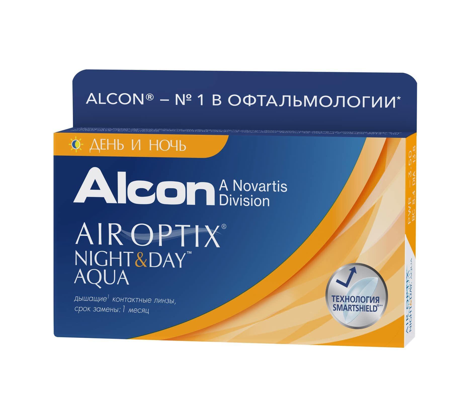 Контактные линзы AIR OPTIX Night & Day AQUA (3 линзы)
