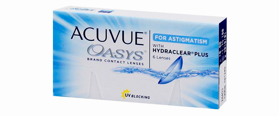 Контактные линзы ACUVUE OASYS for Astigmatism with Hydraclear Plus (6 линз)