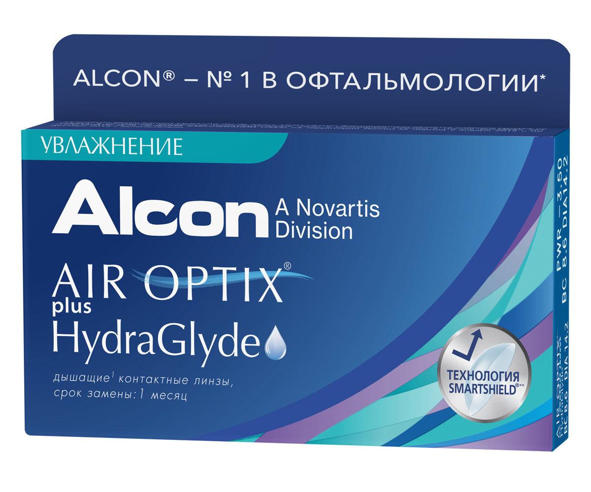 Контактные линзы AIR OPTIX PLUS HYDRAGLYDE (6 линз) фото