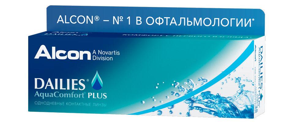 Контактные линзы Dailies AquaComfort Plus (30 линз)