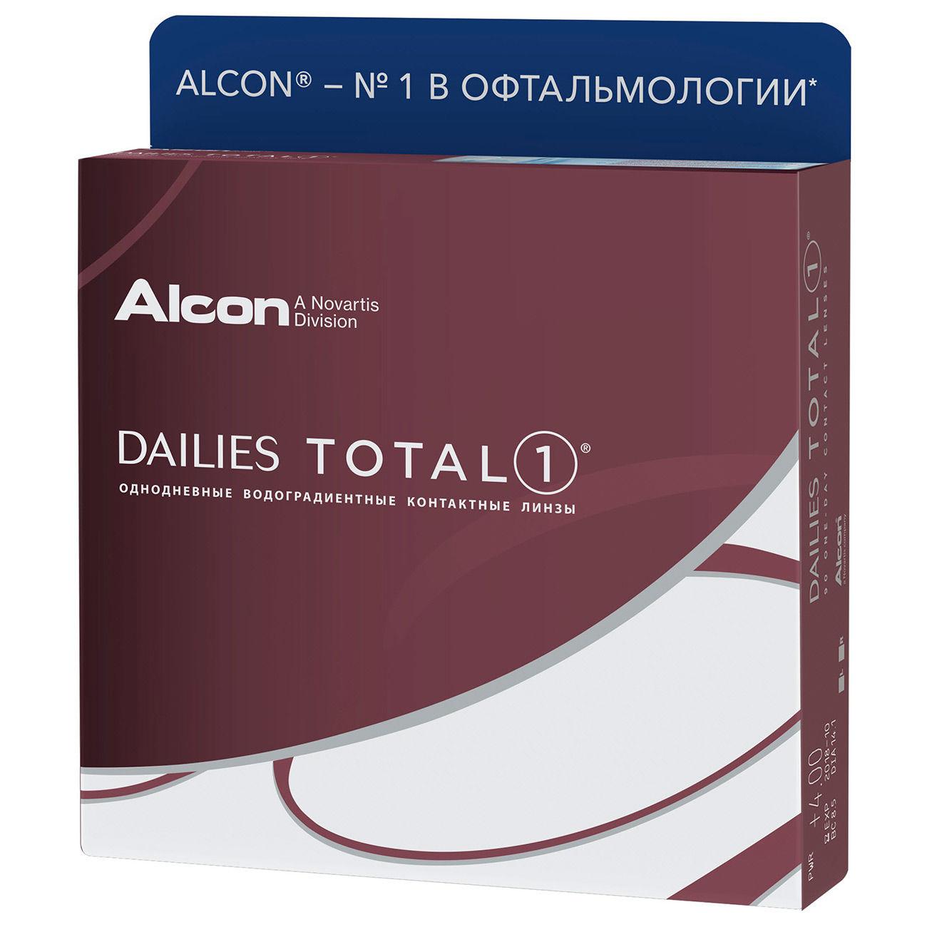 Контактные линзы Dailies Total 1 (90 линз) фото