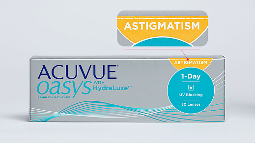 ACUVUE OASYS with HydraLuxe for ASTIGMATISM (30 линз)